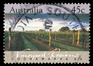 Stamp printed in Australia shows the Coonawarra